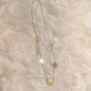 Coach Silver and Gold Combination Necklace